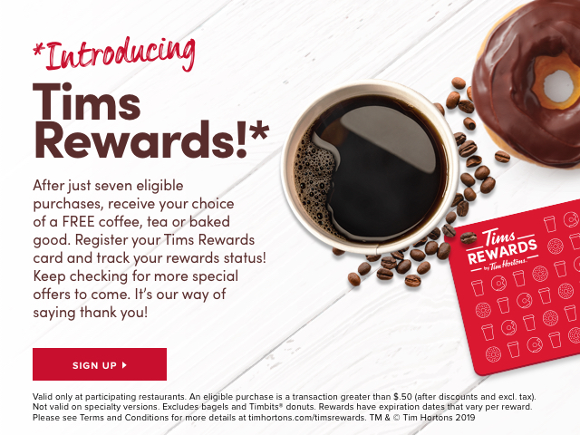 *Introducing Tims Rewards!*