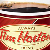 Tim Hortons logo on a cup
