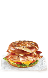 Pretzel Turkey Bacon Grilled Bagel