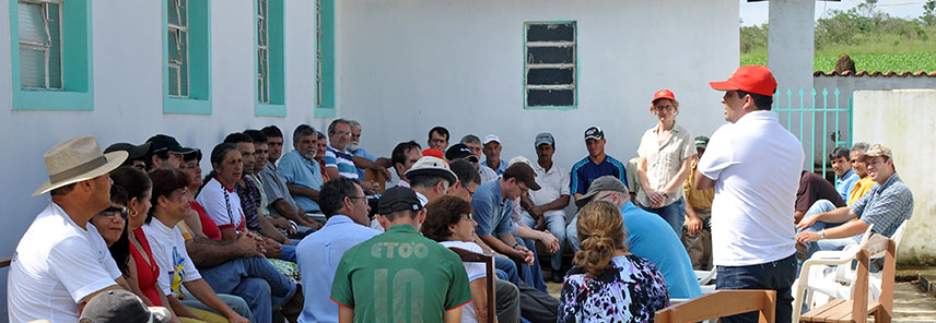 Local farmers gathering for a meeting