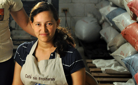 Protcafes Women's group President, Dionisia del Carmen Acosta