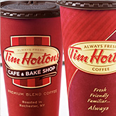 Tim Hortons coffee cups