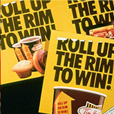 Roll up the Rim to Win promotional posters