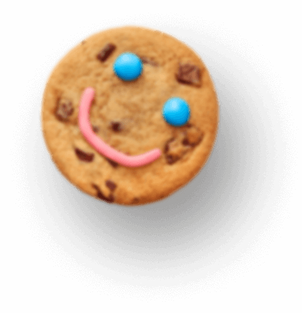Randomly falling Smile Cookies