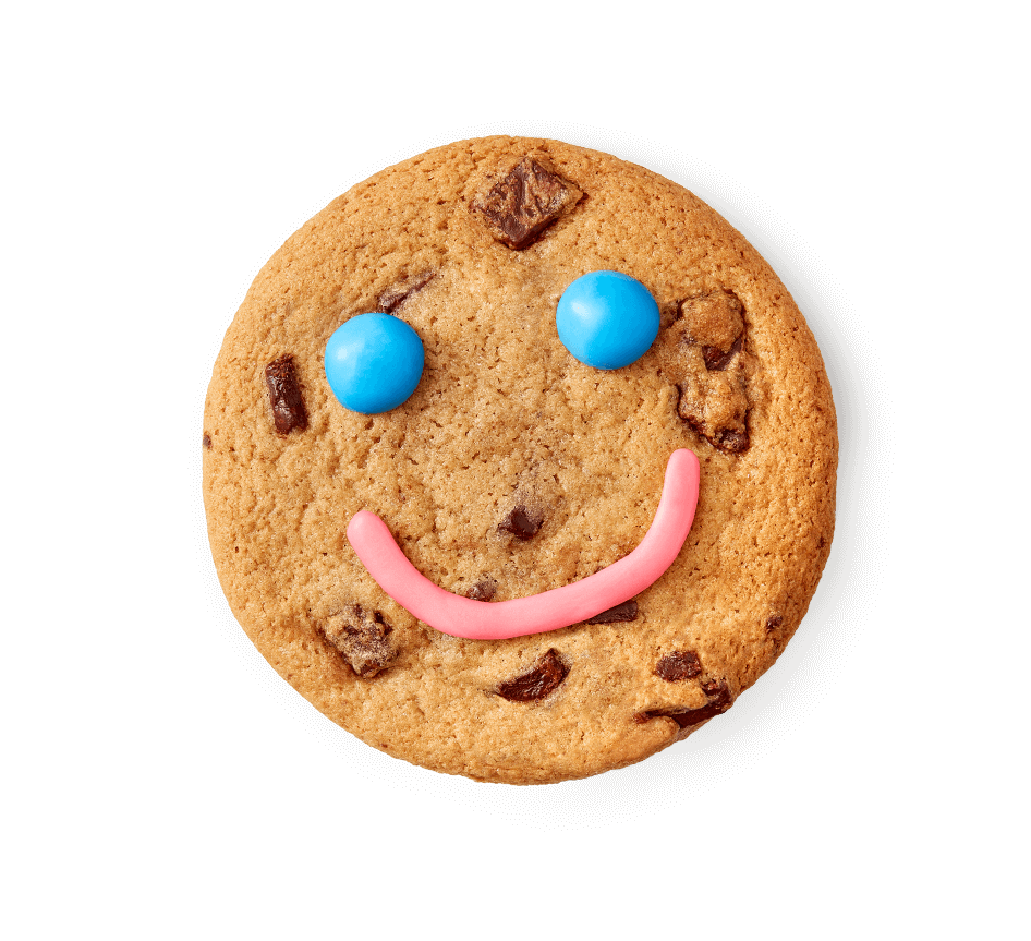 Smile Cookie being eaten to reveal its price